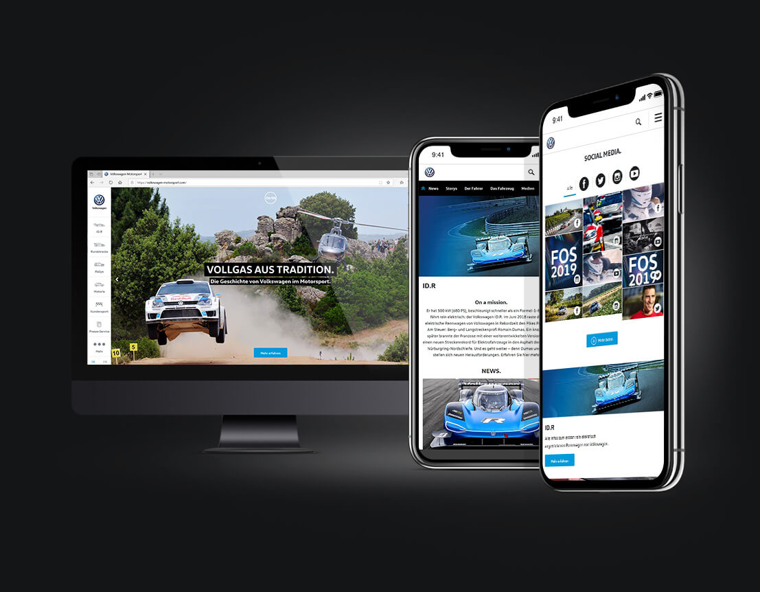 Corporate Website - Volkswagen Motorsport - Webseitengestaltung