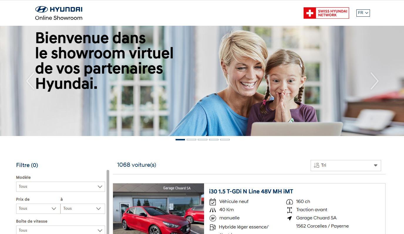Hyundai Suisse Online Showroom - Application web