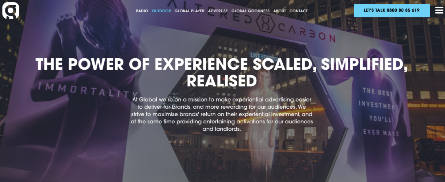 Experiential Global | Website Creation