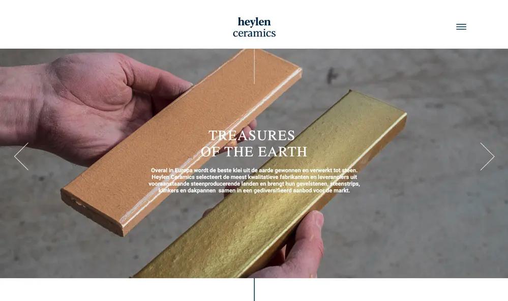 Heylen Ceramics - Website Creatie