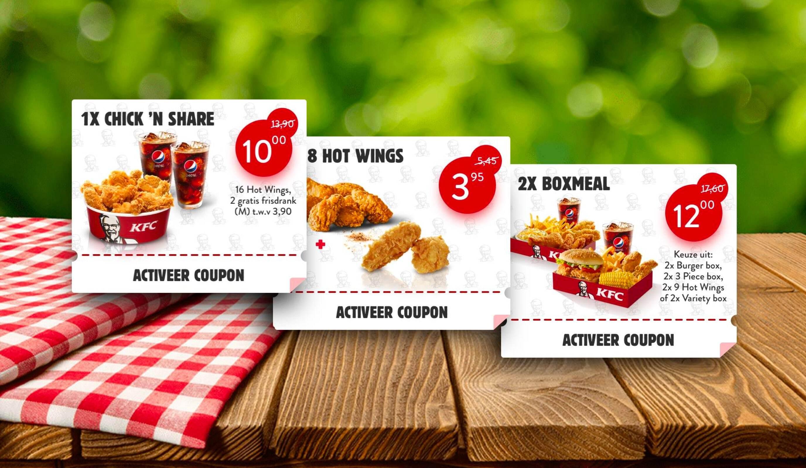 De kortingscoupons van KFC, let's make it digital - Website Creatie