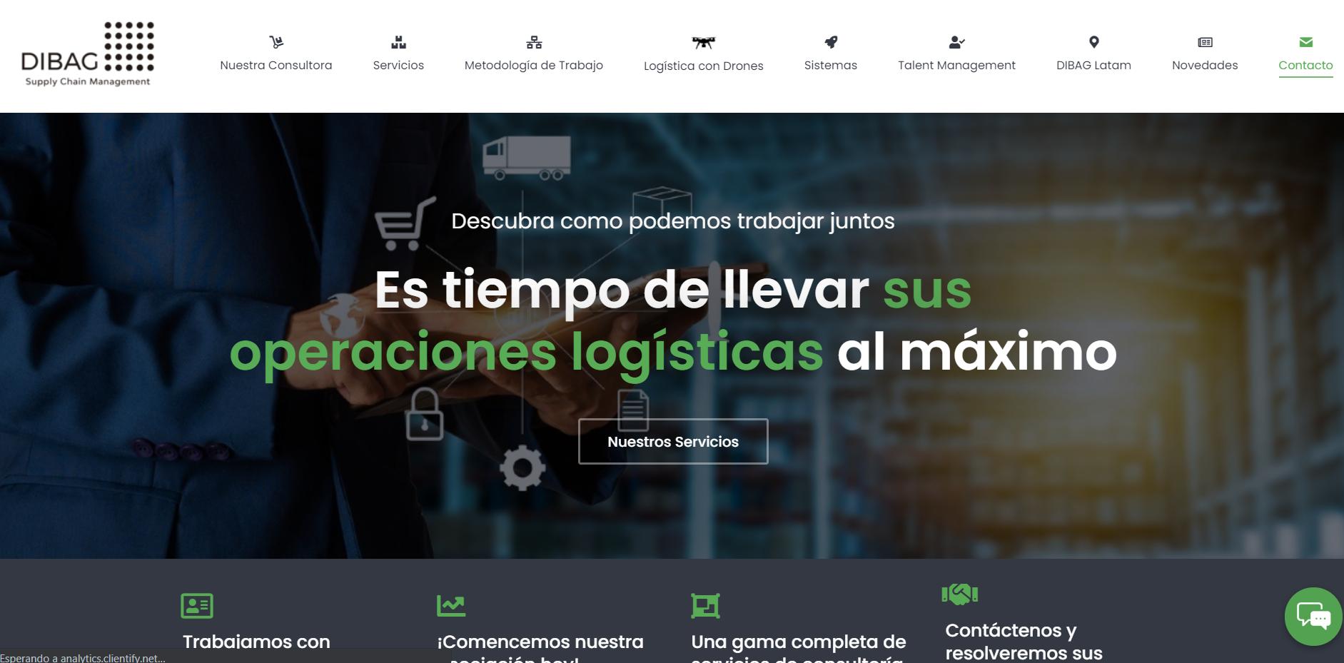 Website - Supply Chain - Wordpress - Estrategia digital
