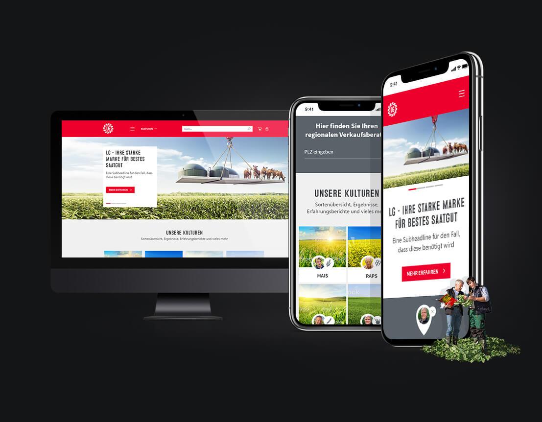 Corporate Website - Limagrain Deutschland - Webseitengestaltung