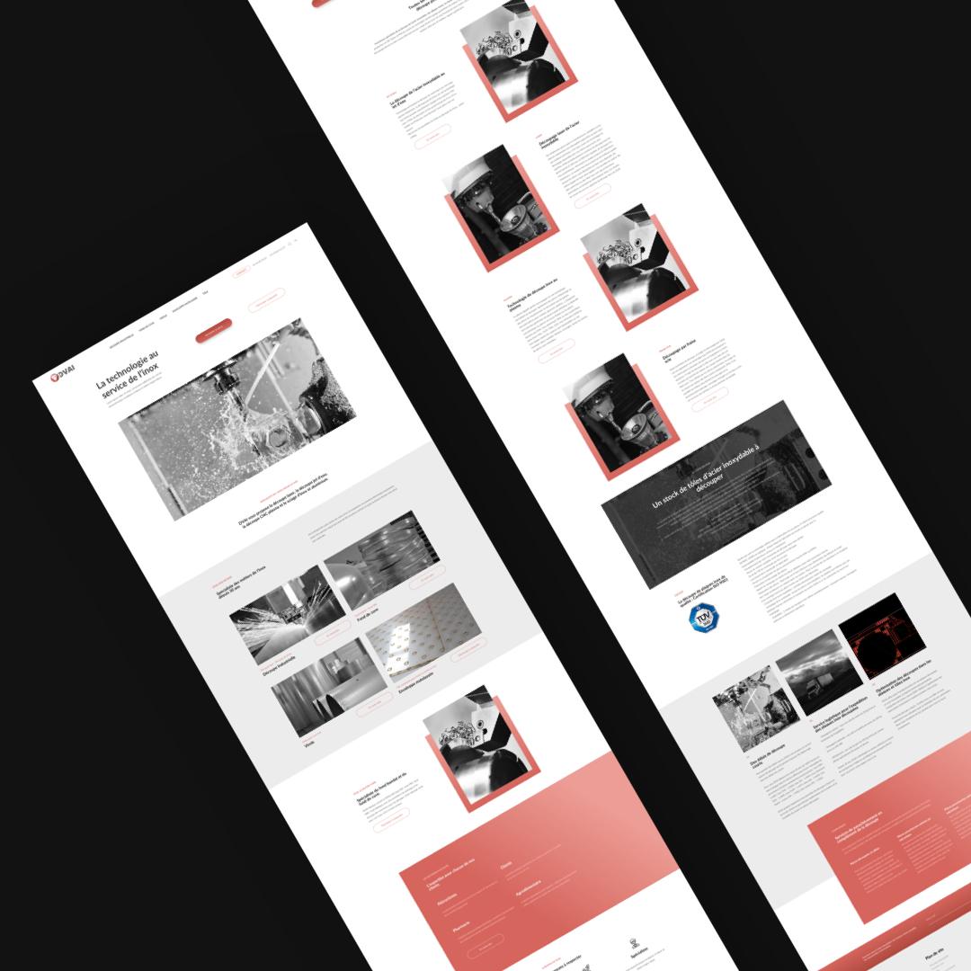 DVAI – Site vitrine // Industrie - Création de site internet