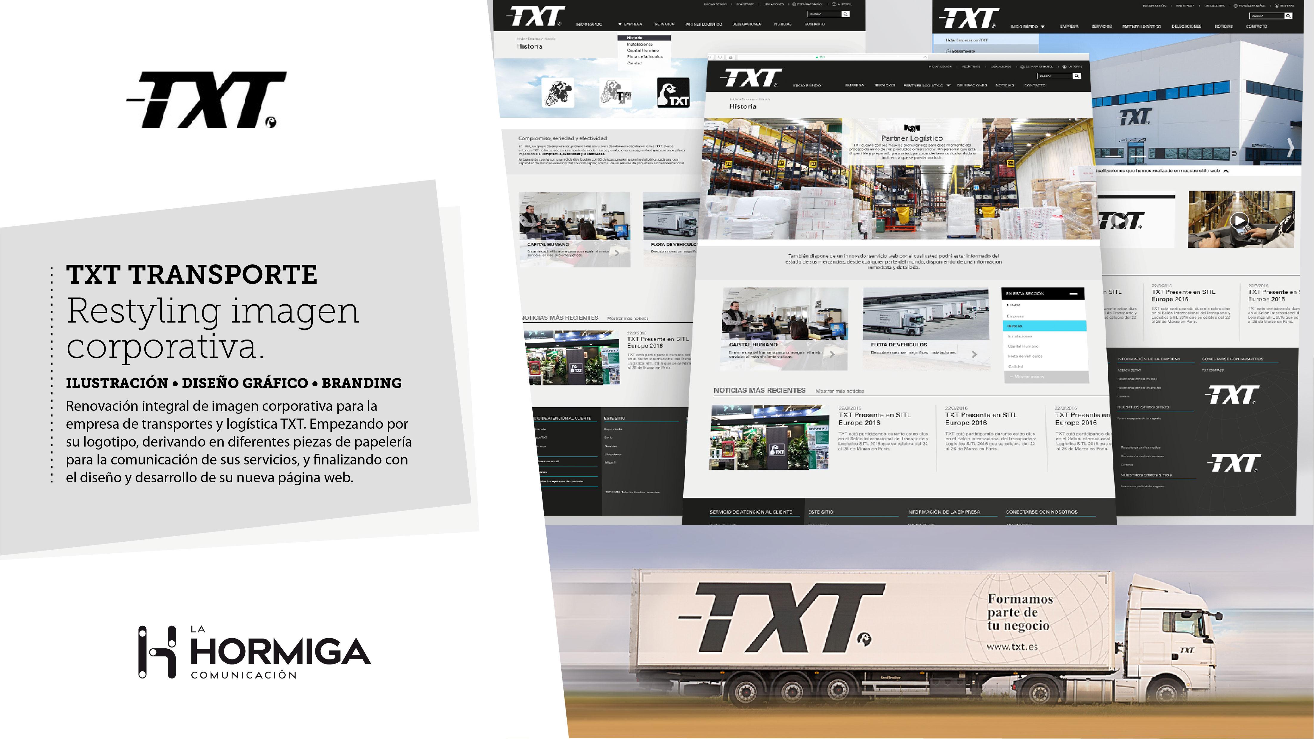 Restyling marca TXT - Estrategia digital