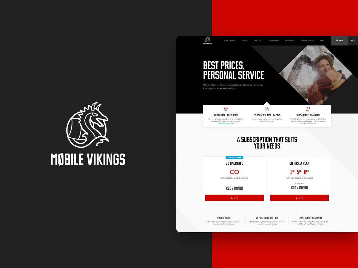 Mobile Vikings - Website Creatie