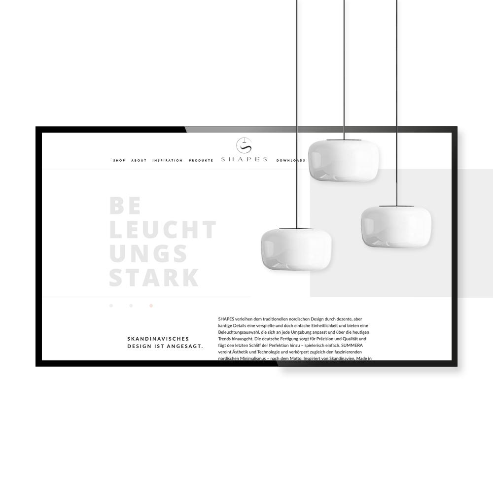SHAPES - Website Design und Layout - SEO