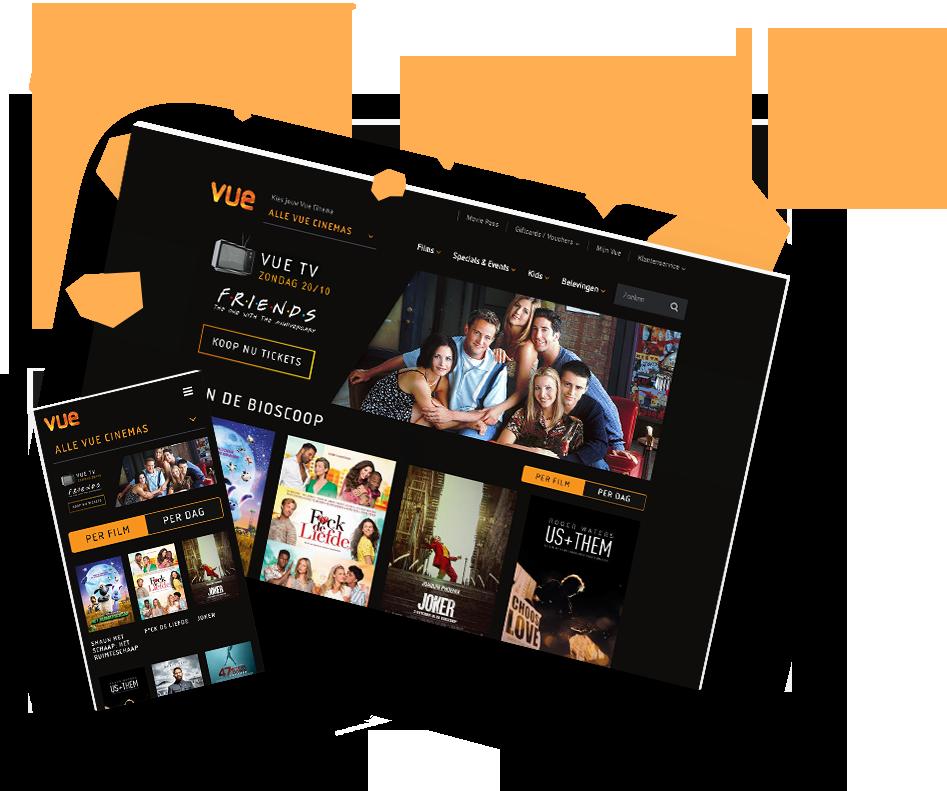 The next part of Vue Cinemas - Website Creatie