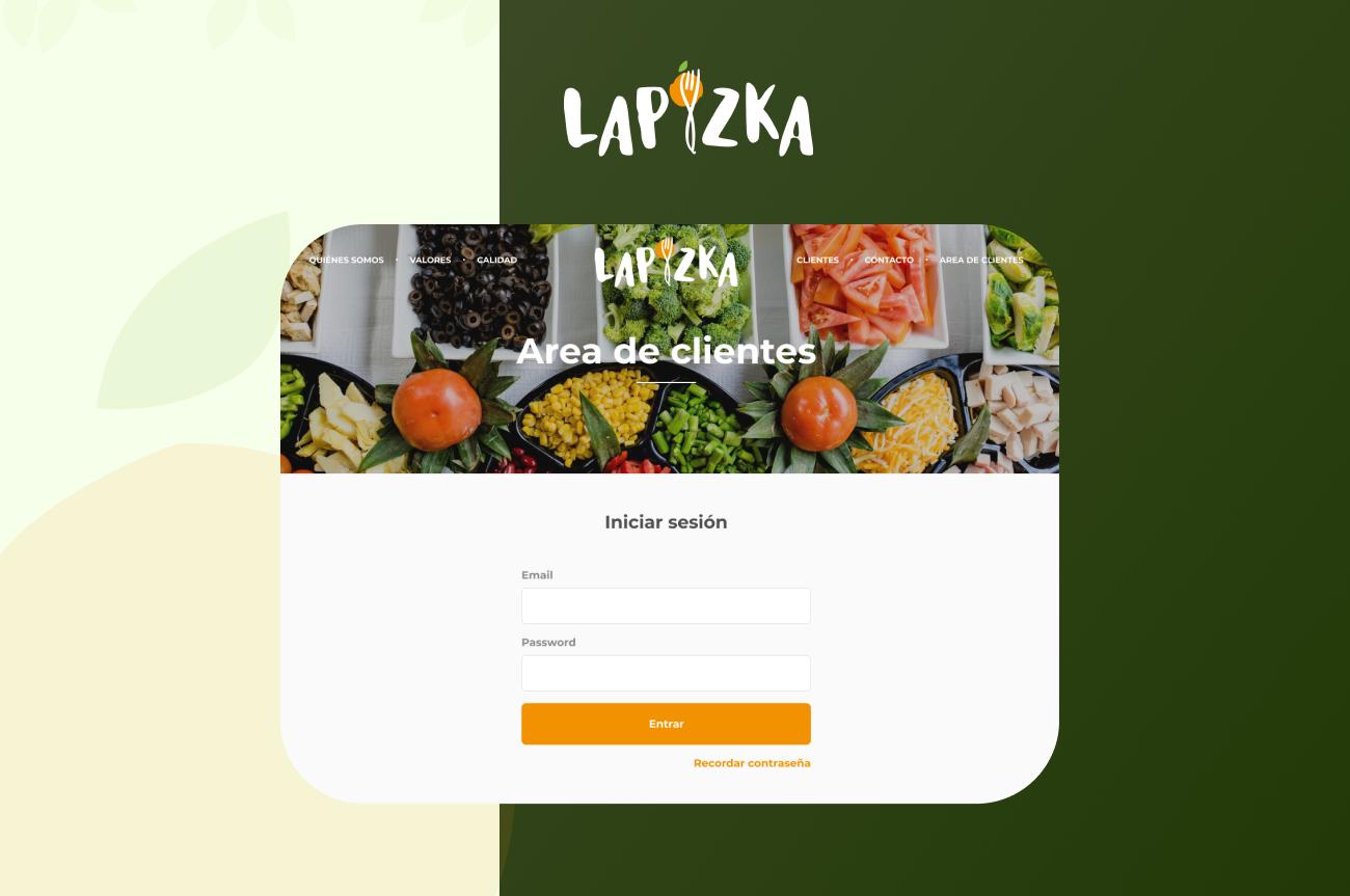 Panel de administración y web comercial LaPizka - Creación de Sitios Web