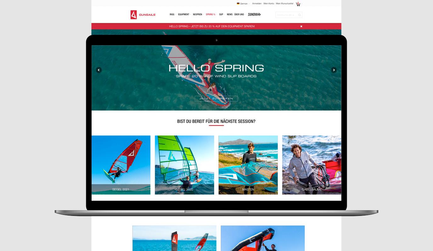 Neuer Online-Shop für GUNSAILS - Digitale Strategie