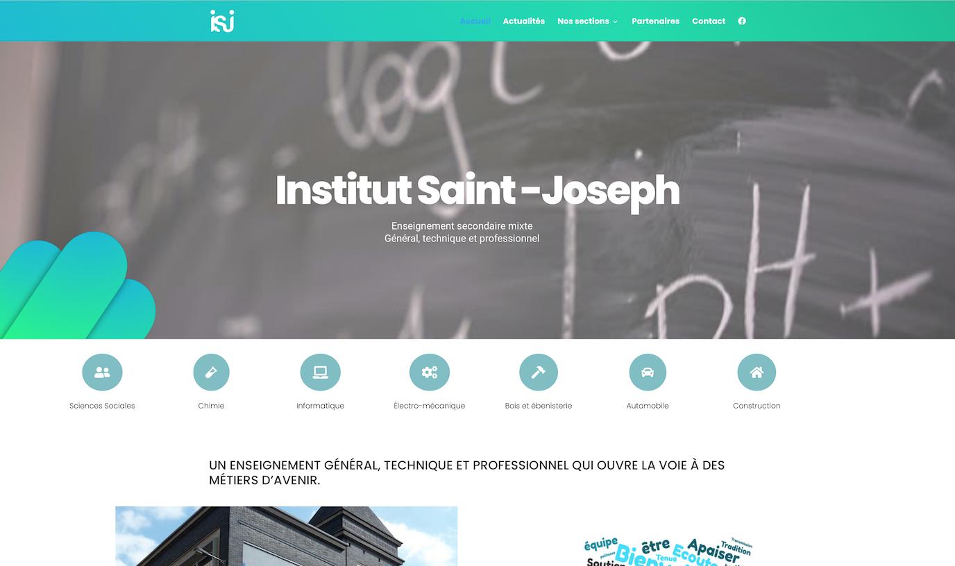 Site Internet | Institut Saint Joseph - Website Creation
