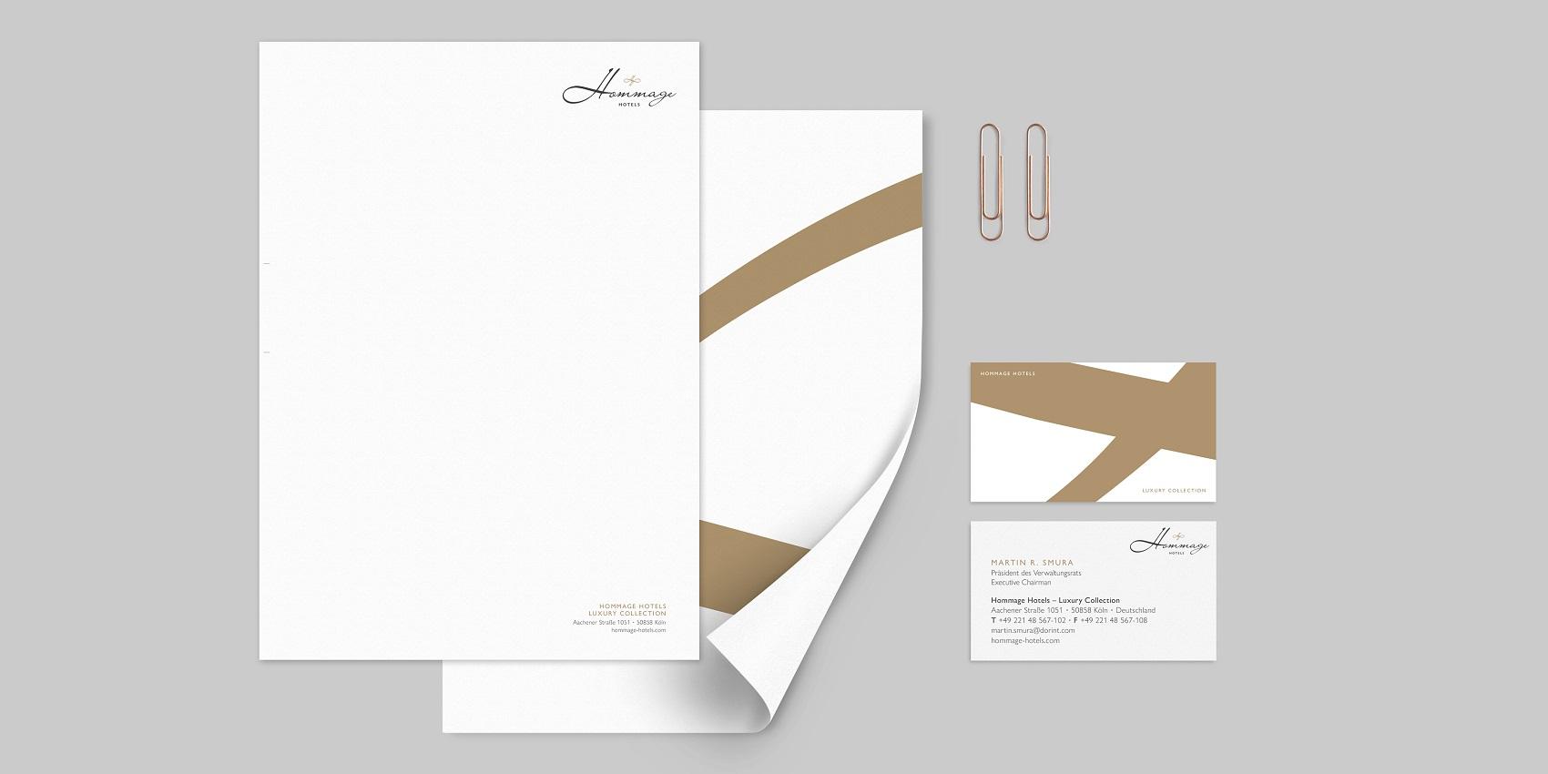 Hommage Hotels: Corporate Design - Werbung
