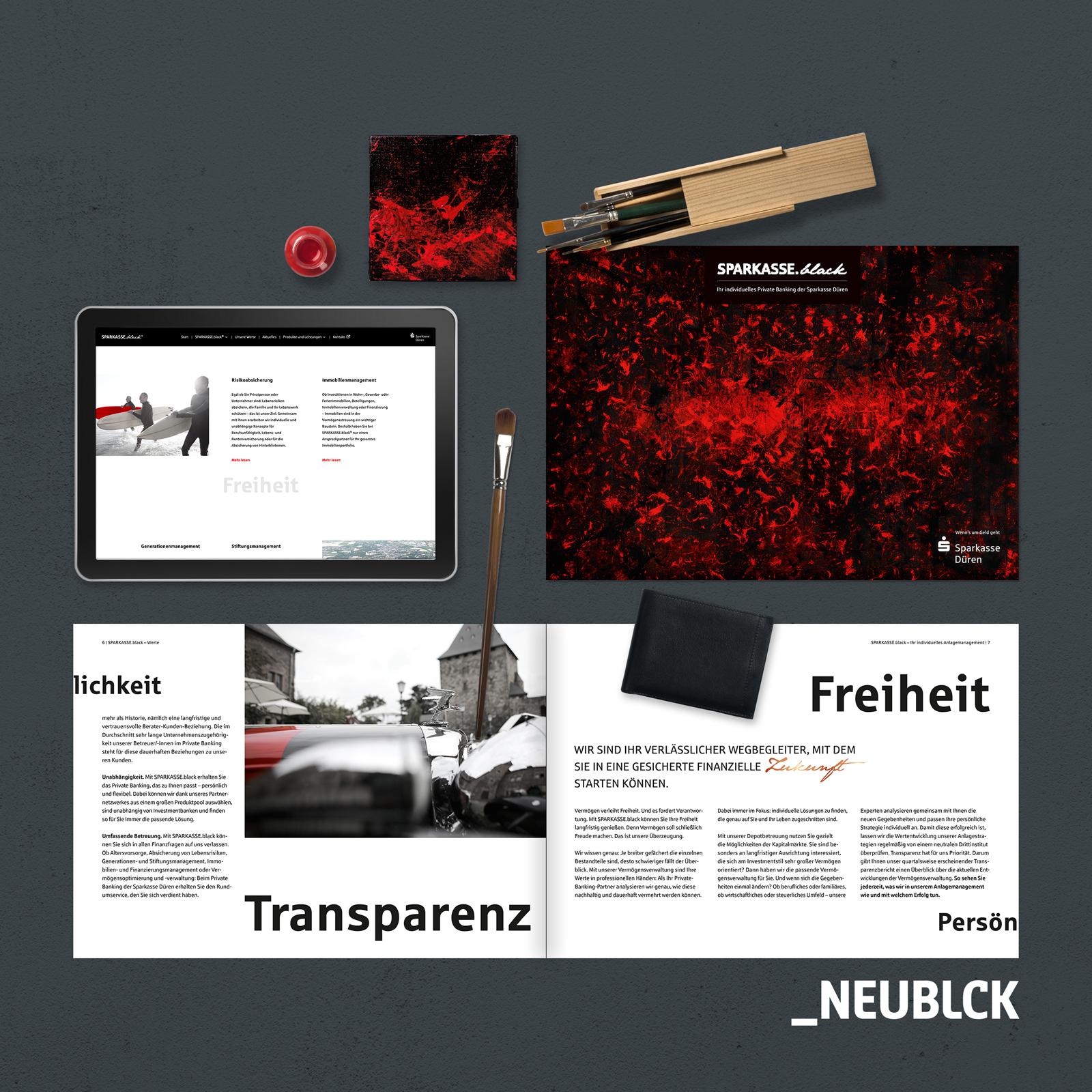 Sparkasse.black: Branding, Design, Webseite