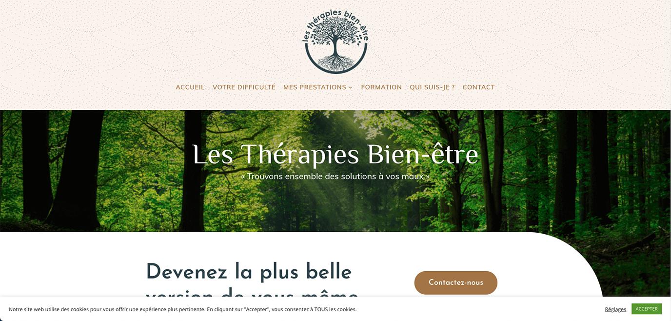 Les Thérapies Bien Être - Création de site internet