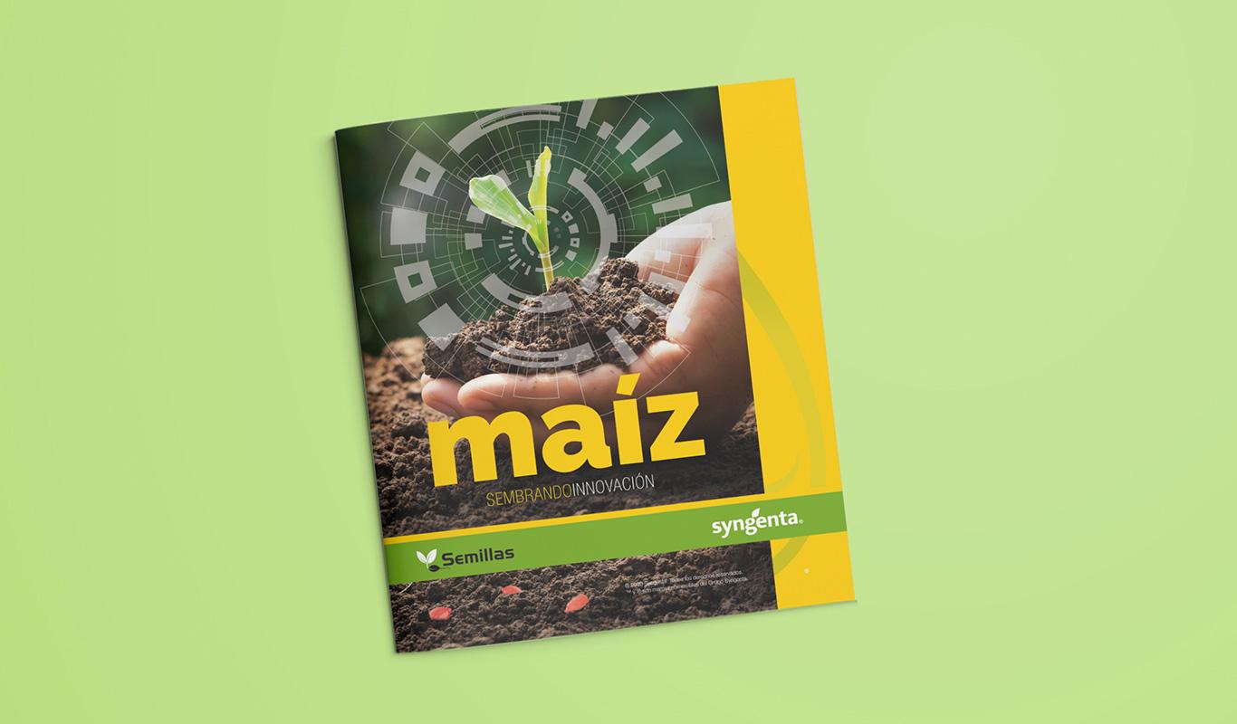 Diseño folletos para empresa de agricultura - Branding y posicionamiento de marca