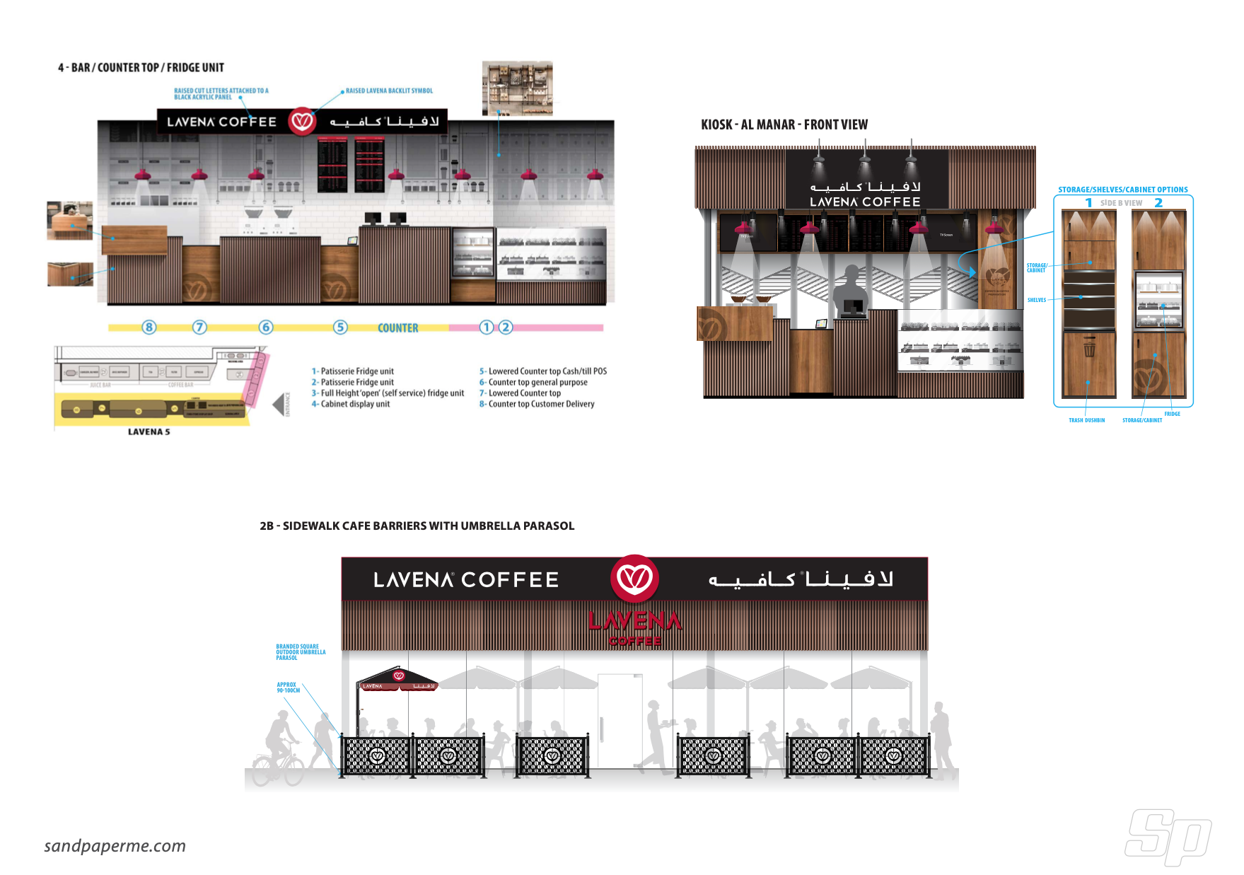 Re-Branding of a Coffee Shop chain (20 branches). - Graphic Design