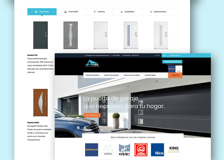 Diseño Web + Optimización SEO Puertas Ares