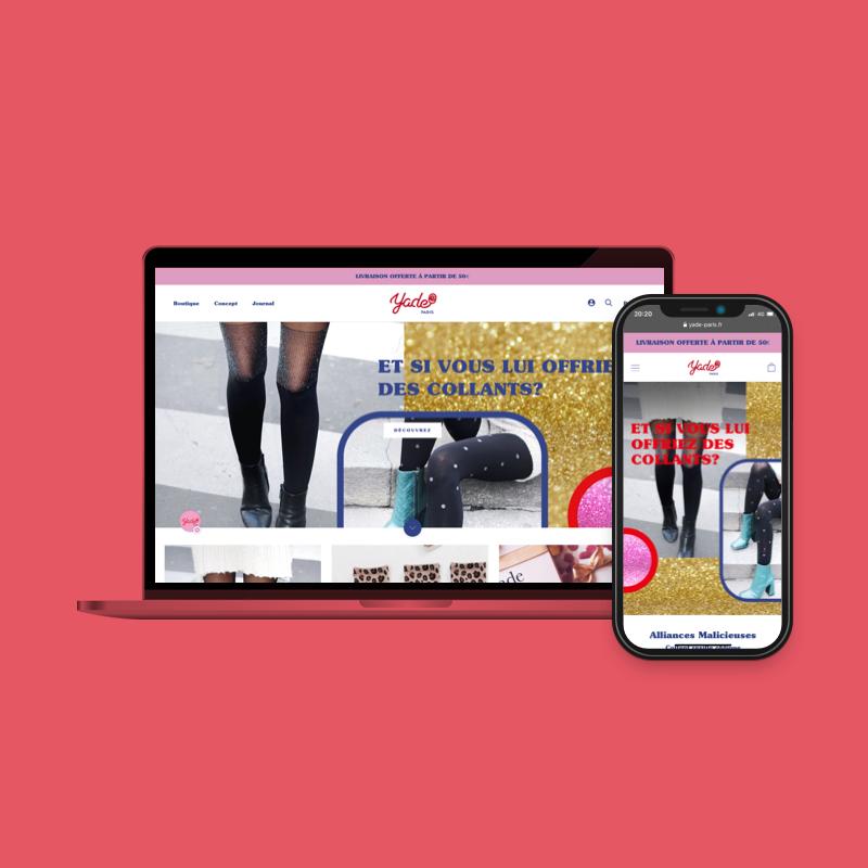 YADE - Shopify Website - Social Media