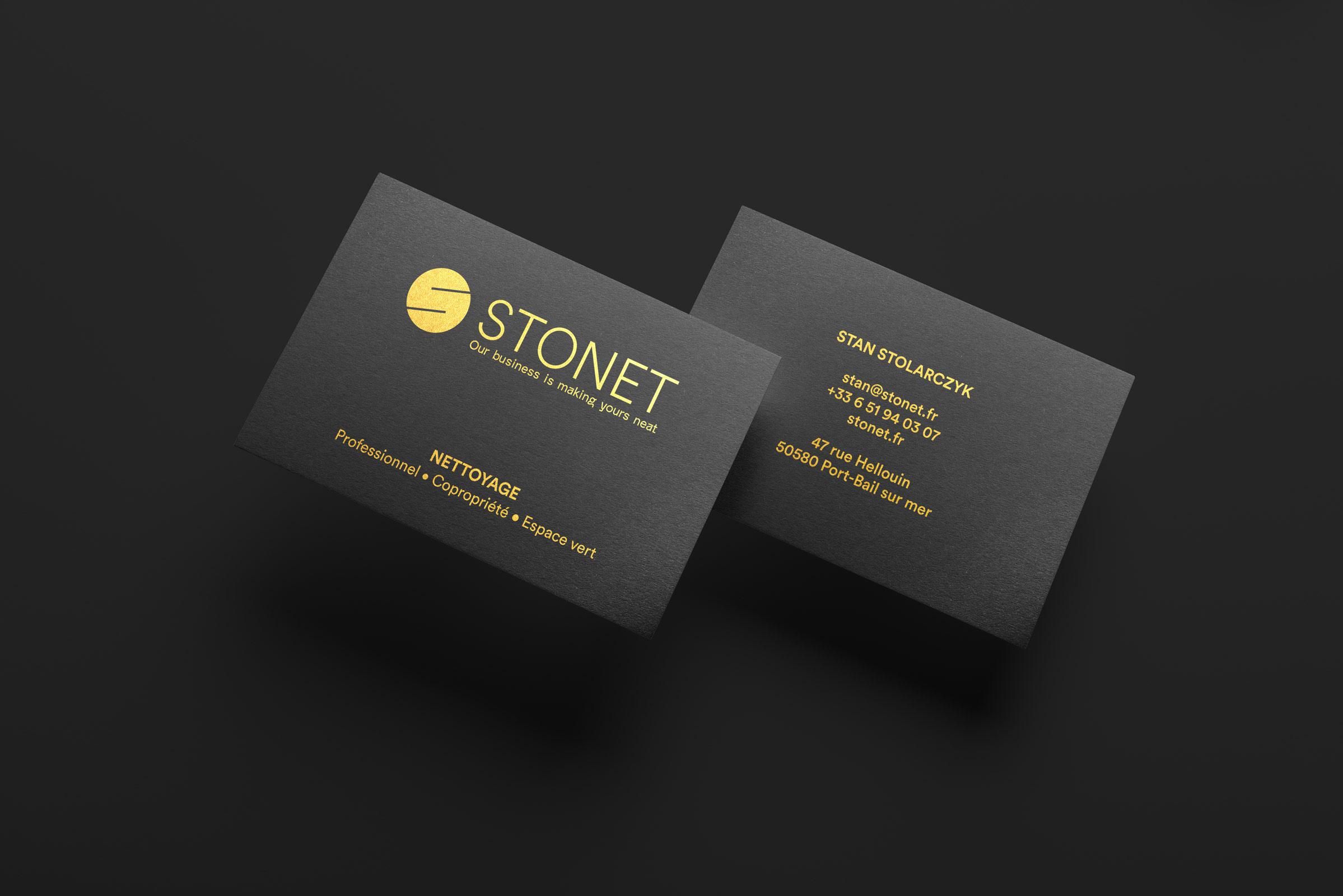 STONET - Conception identité visuelle - Image de marque & branding