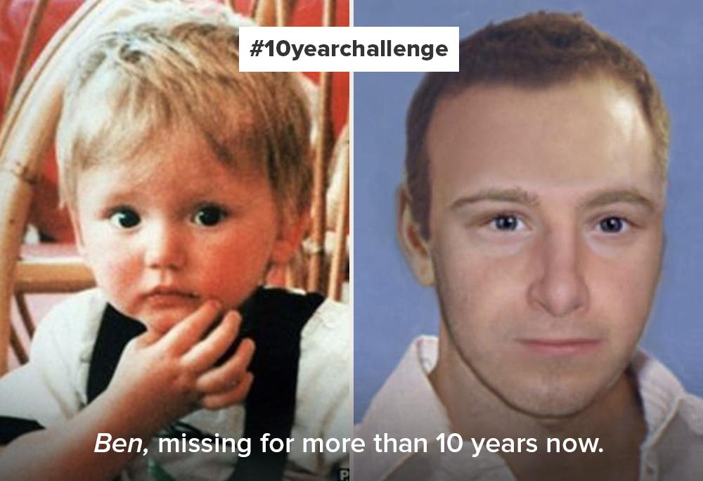 Missing Children Europe - 10yearchallenge