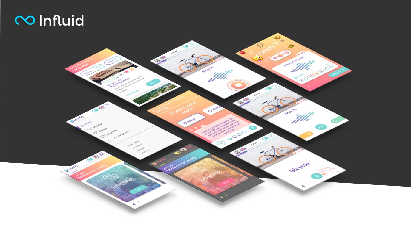 UI/UX for interactive 'speaking' application - Website Creatie
