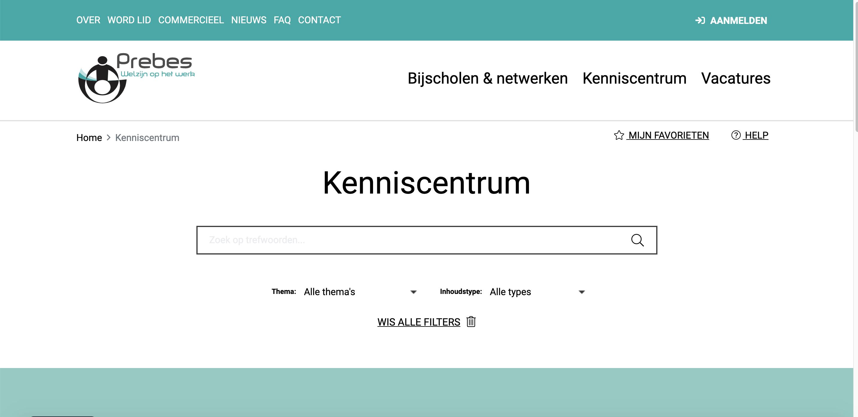 Prebes - Kenniscentrum platform - Digital Strategy