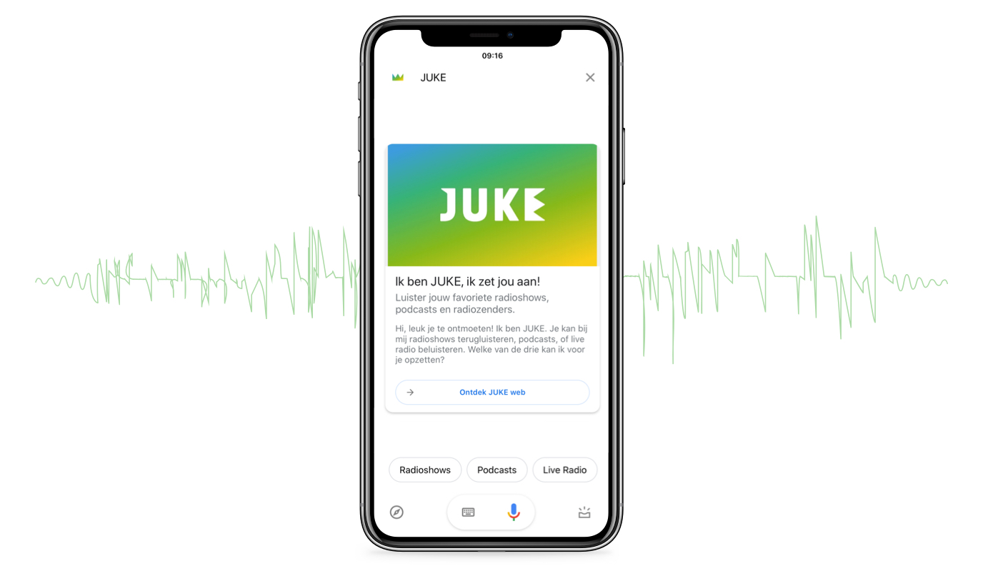 JUKE: Google Assistant Voice Action