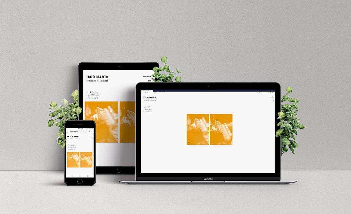Diseño web Iago Marta - Creación de Sitios Web