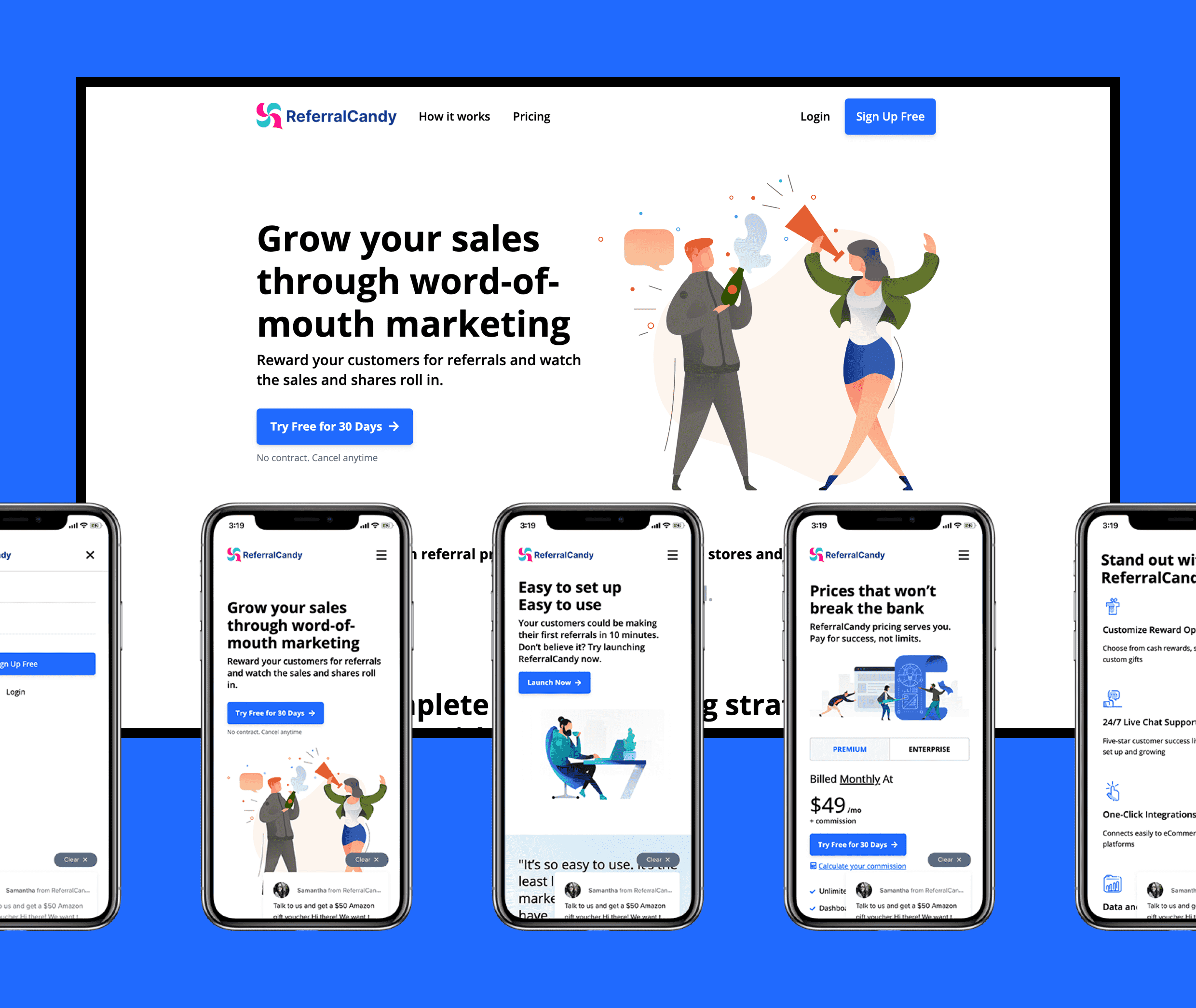 Referral Candy - Shopify Plug-in - Website Creation
