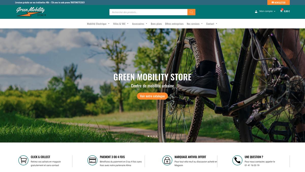 GreenMobility - E-commerce