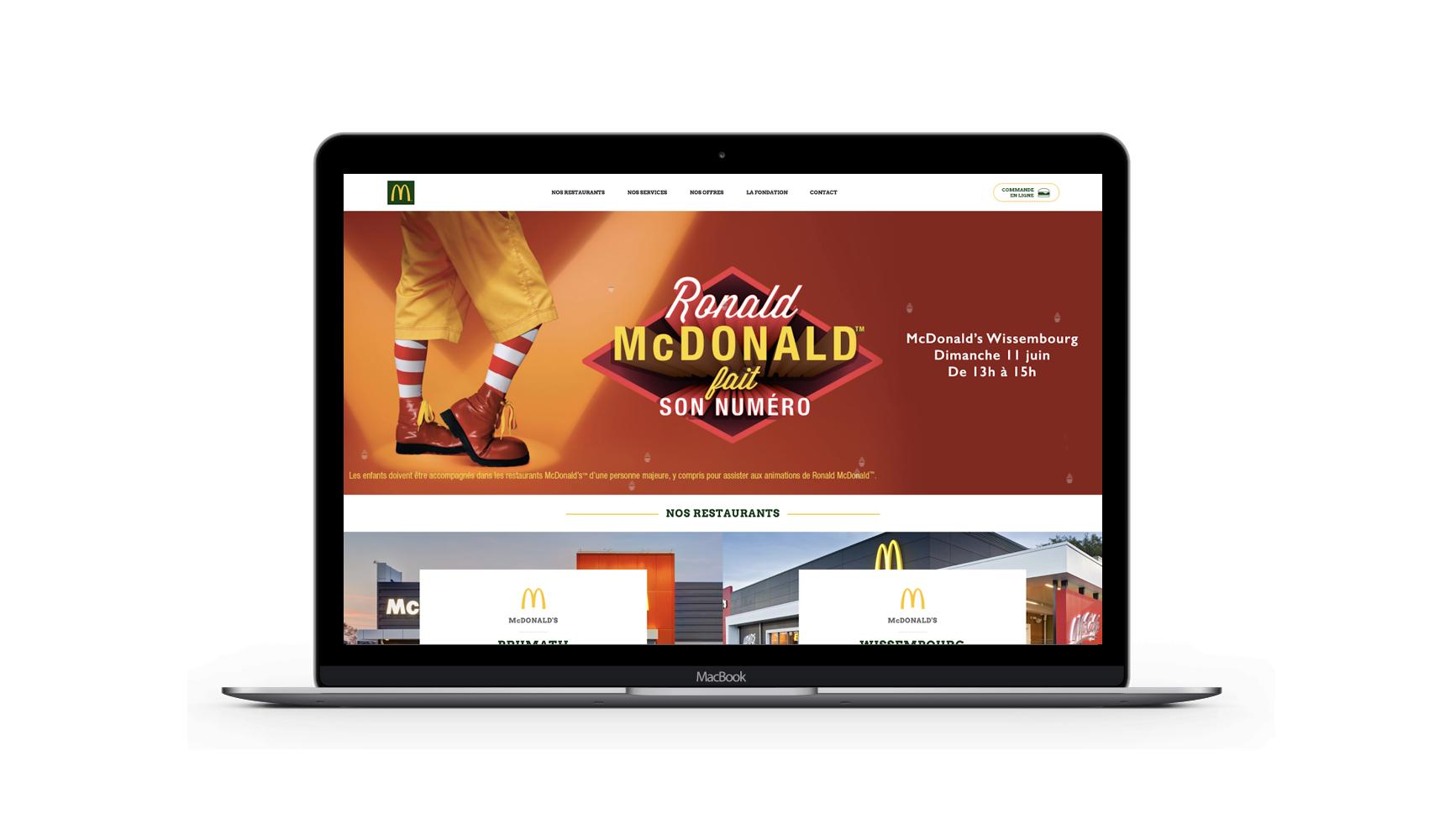 MCDONALD'S - Création de site - Création de site internet