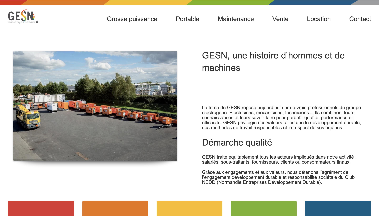 Site Vitrine sous WordPress location matériels pro