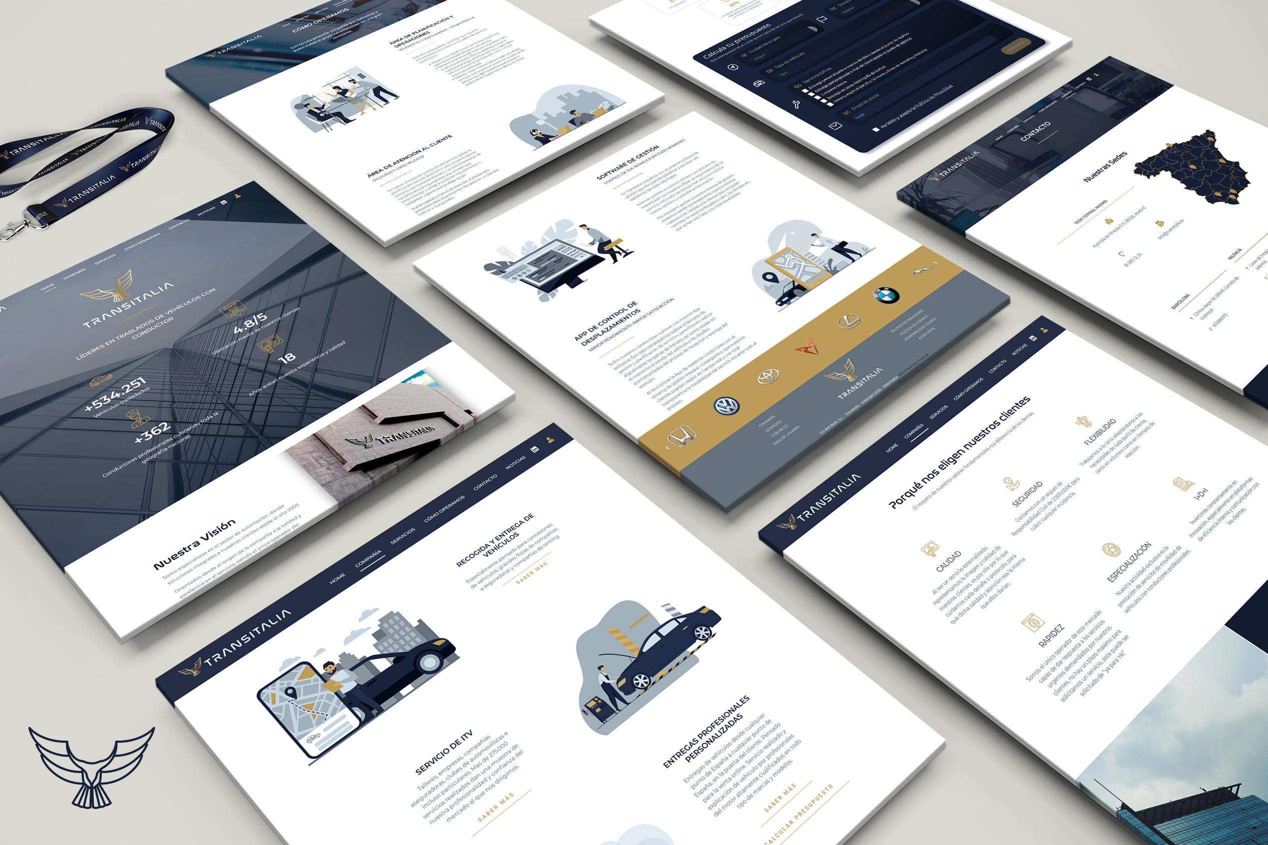 Re-Branding + Web + Marketing + SEO -> TRANSITALIA - Creación de Sitios Web