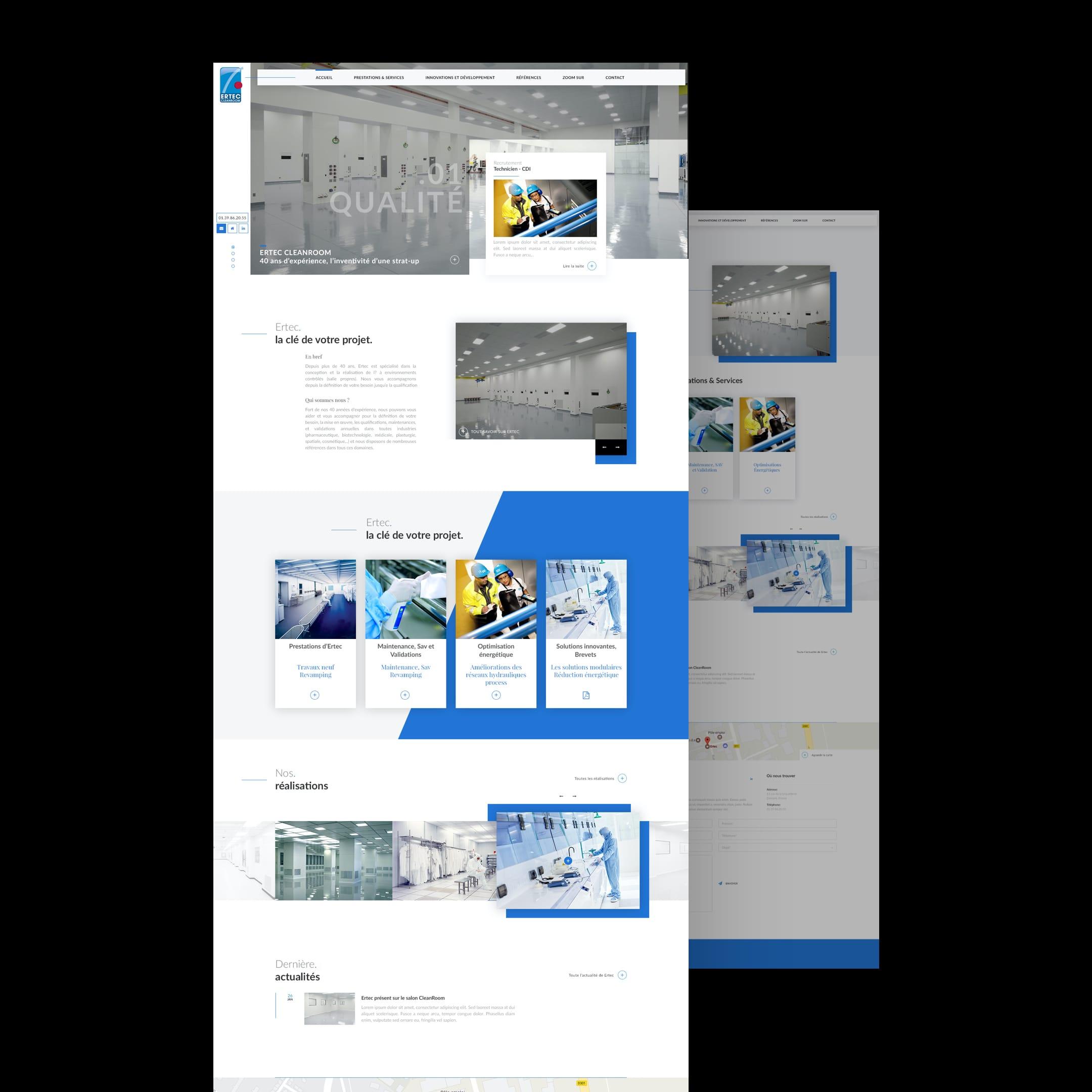 Ertec Cleanroom – Site vitrine // Bâtiment