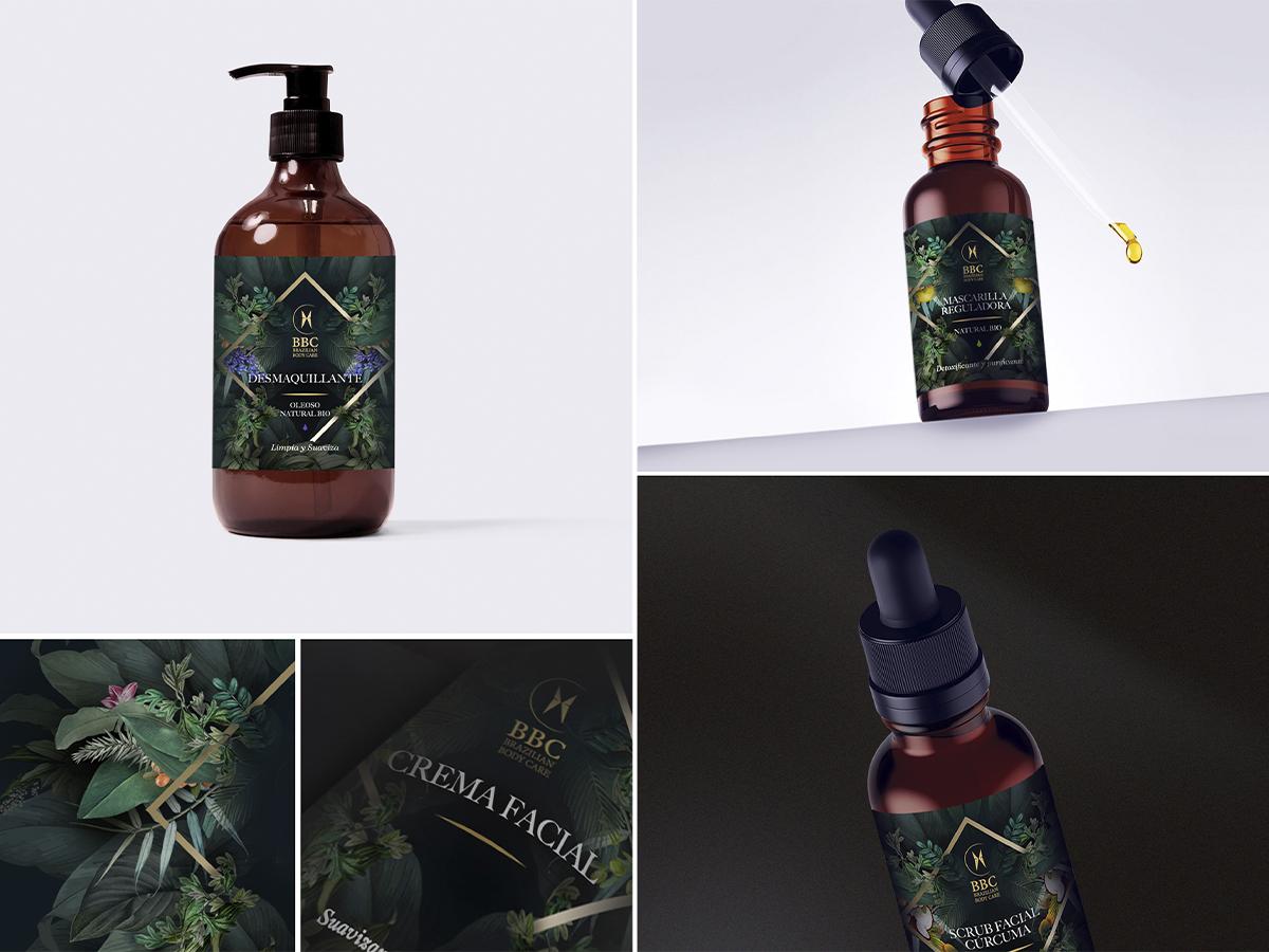 Packaging Brazillian Body Care - Branding y posicionamiento de marca