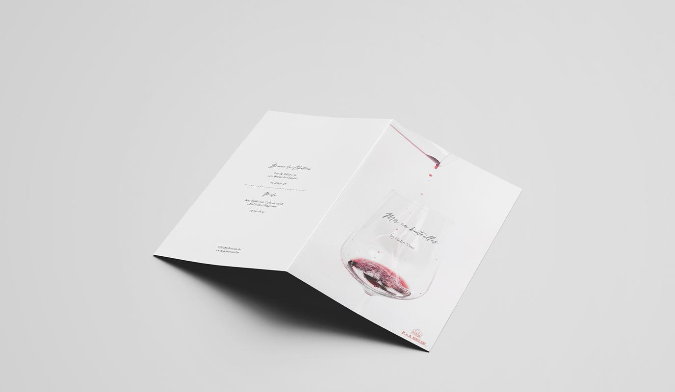 Gelin Vins - Brochure - Design & graphisme