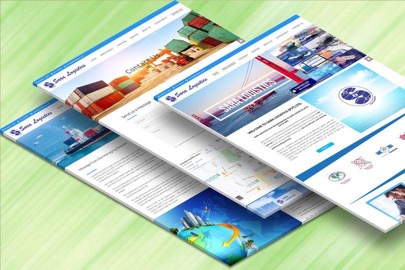 Company website of Sara Logistics Pvt Ltd