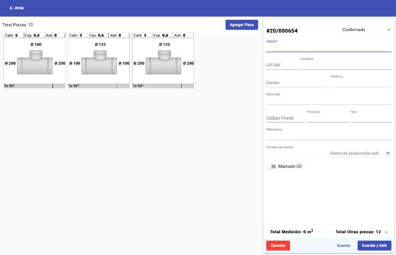 Fan-Air Gestión órdenes producción - Aplicación Web
