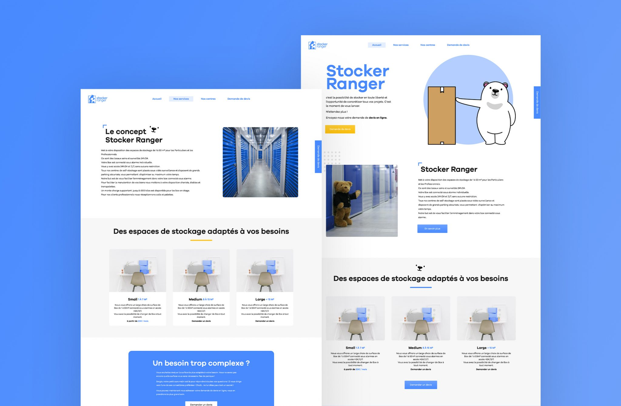 Refonte site web Stocker Ranger - Création de site internet