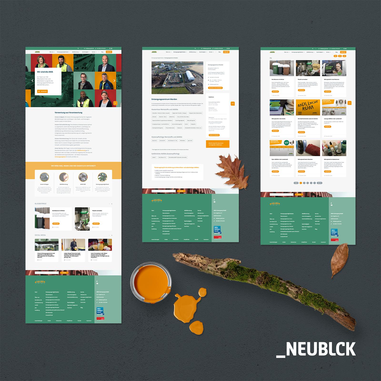 AWA Entsorgung GmbH: Webdesign & Programmierung