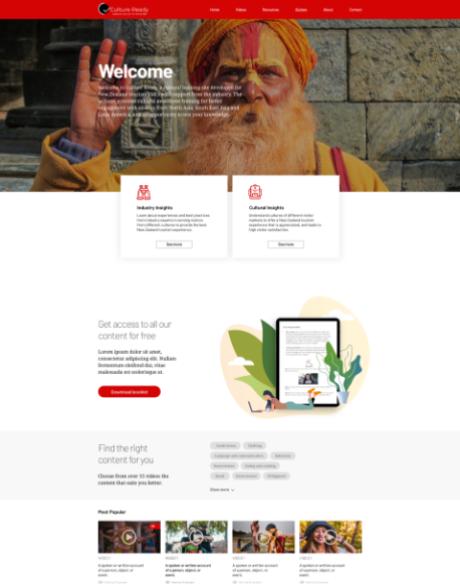 UX & UI Design for learning platform - Website Creation