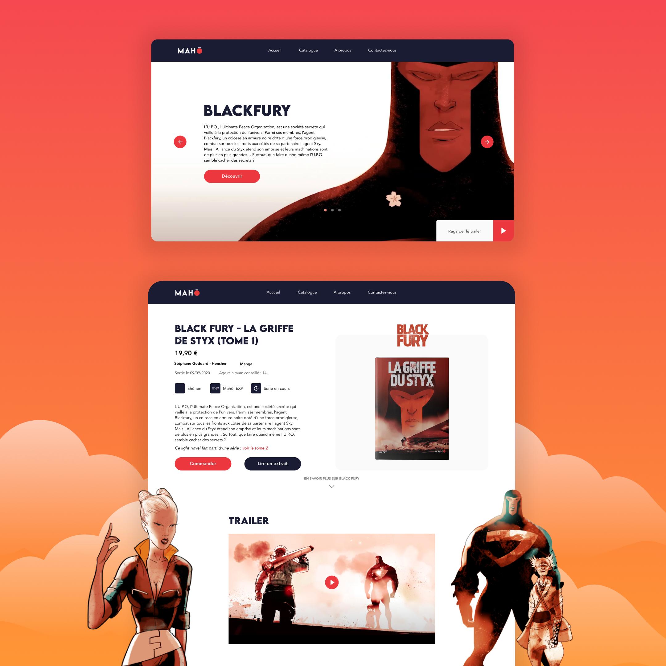 Maho Édition / Site vitrine - Website Creation