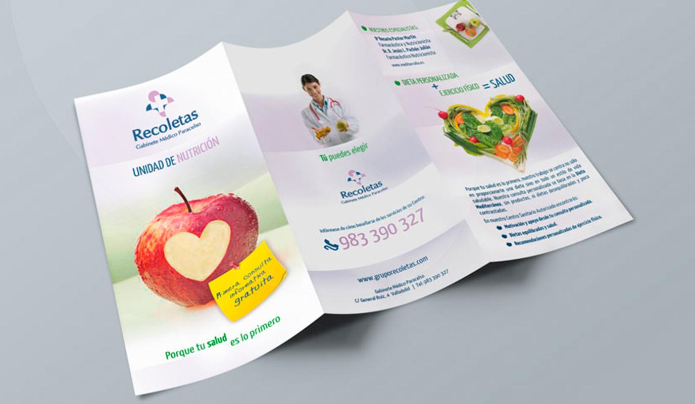 Diseño folletos y guías para Hospital