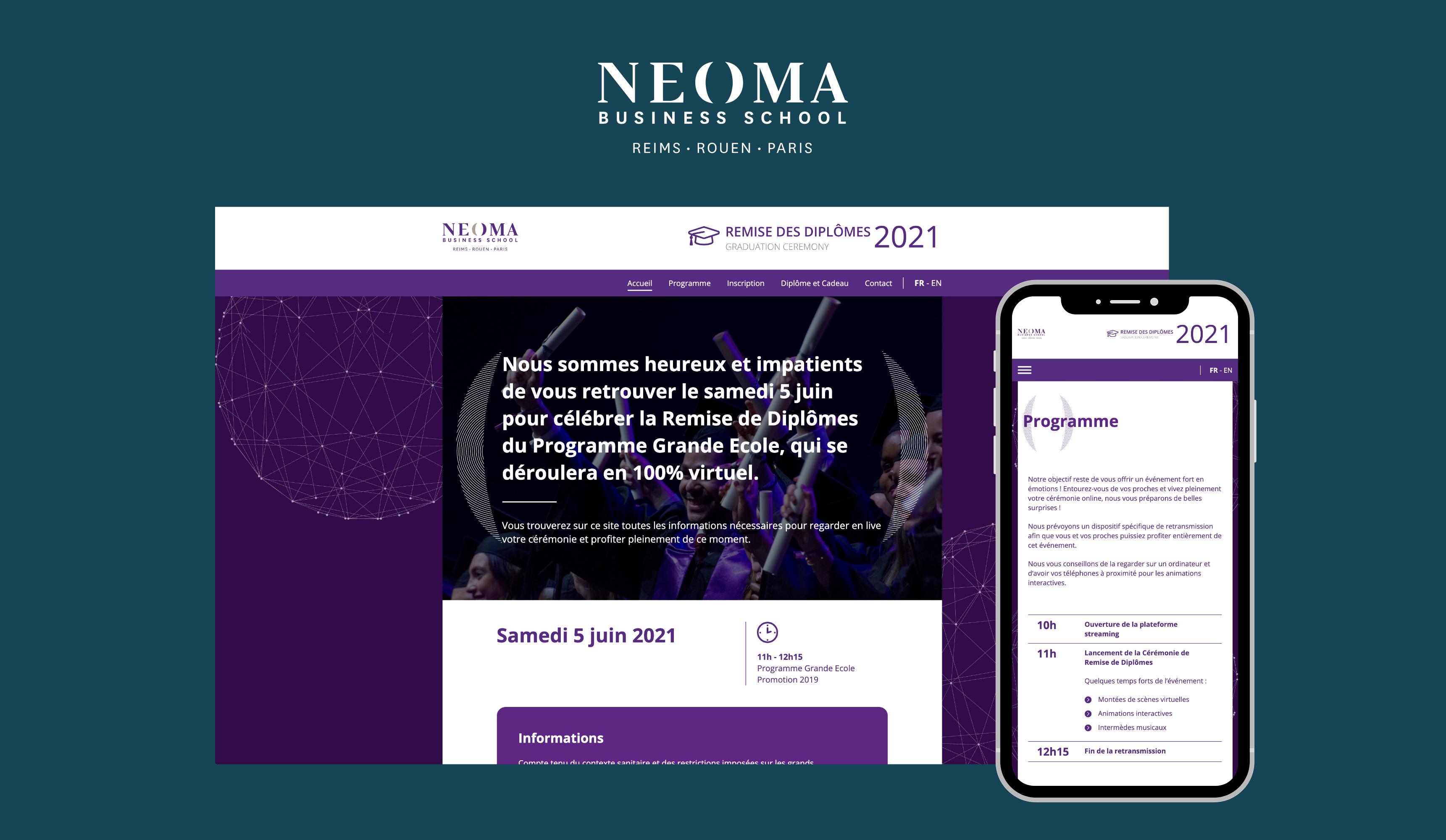Plateforme applicative événementielle - NEOMA