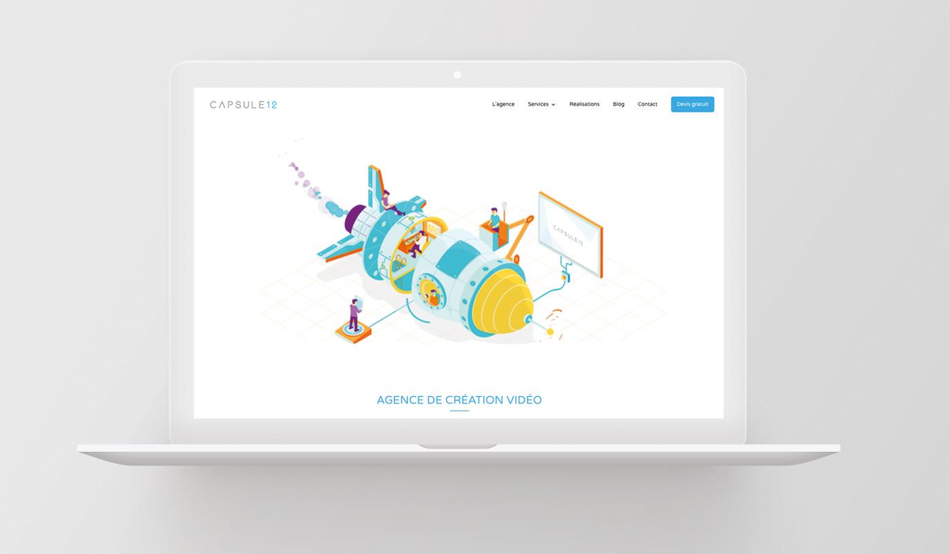 Capsule 12 website - Stratégie digitale