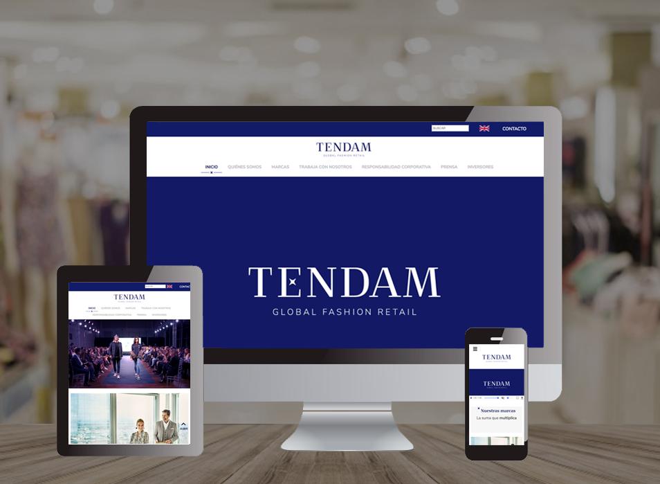 Tendam Website Corporativo - Creación de Sitios Web