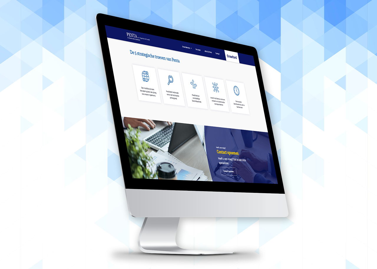 De website in een modern jasje voor Penta - Website Creatie