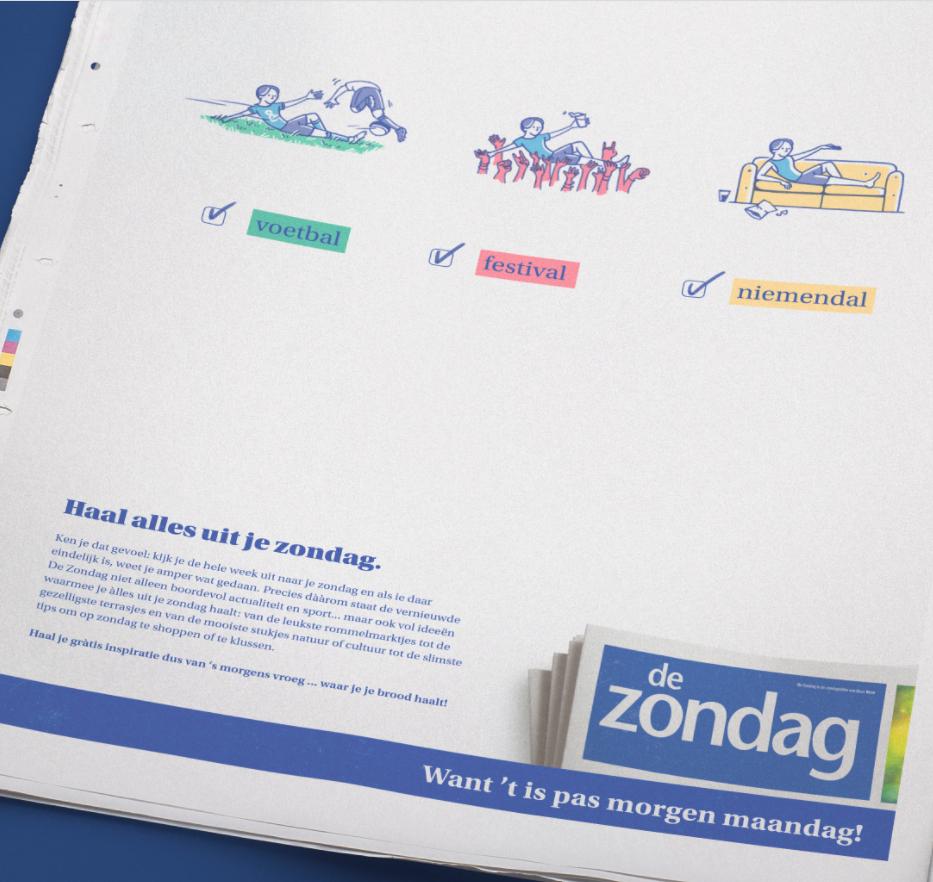 De Zondag - Print, Radio, TV - Content Strategy