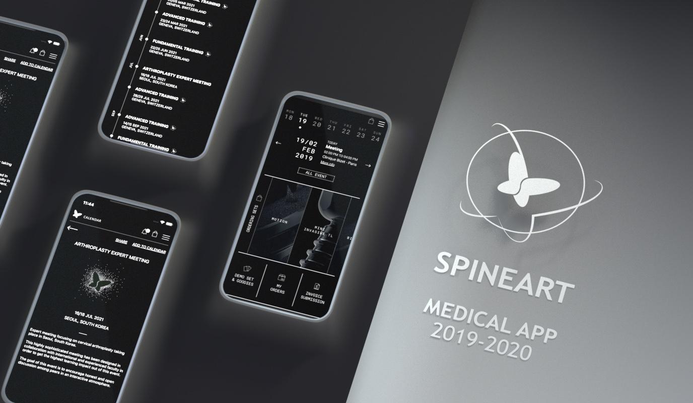 Spineart / Transformation digitale - Application web
