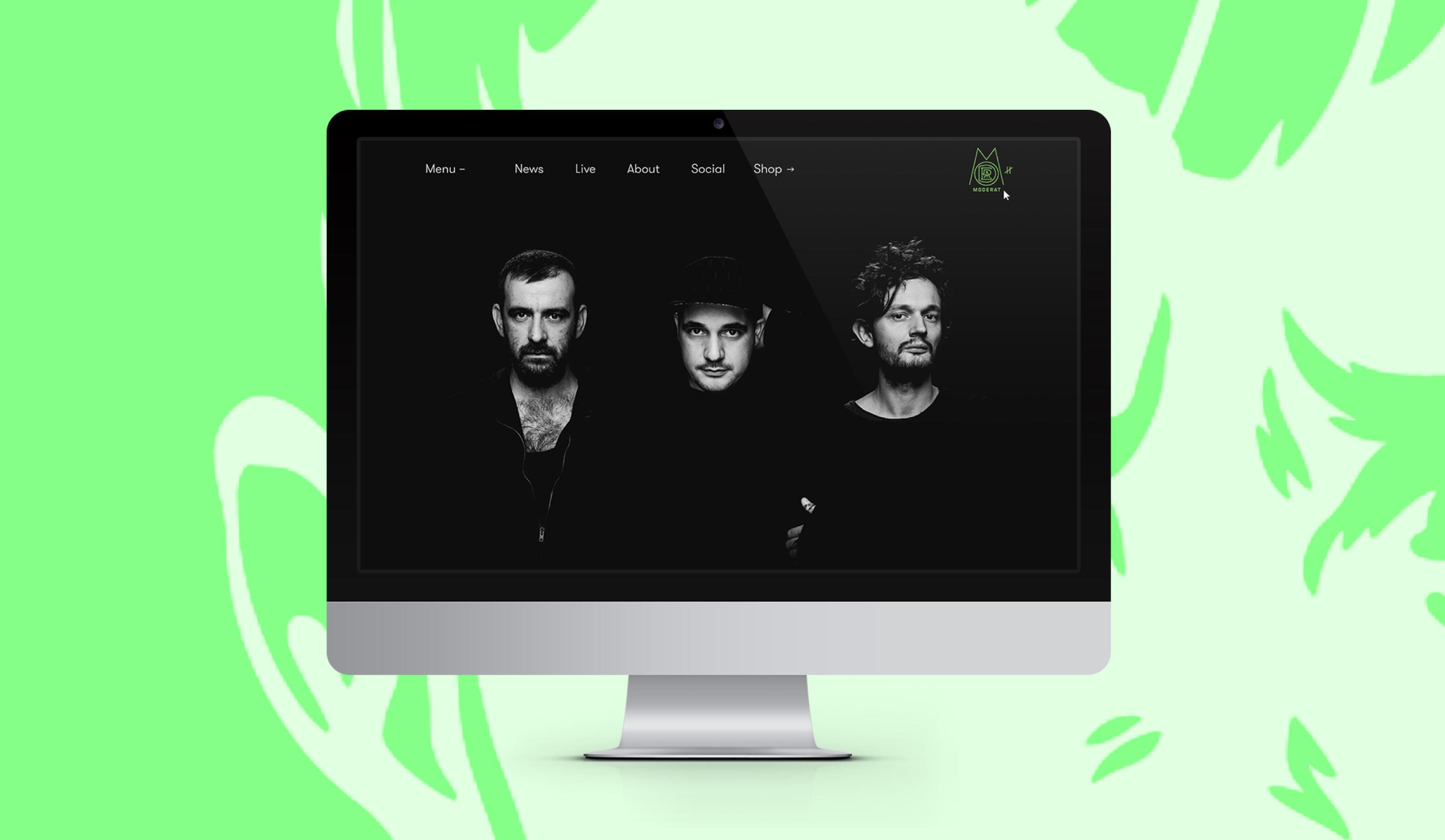 Moderat Website - Webseitengestaltung